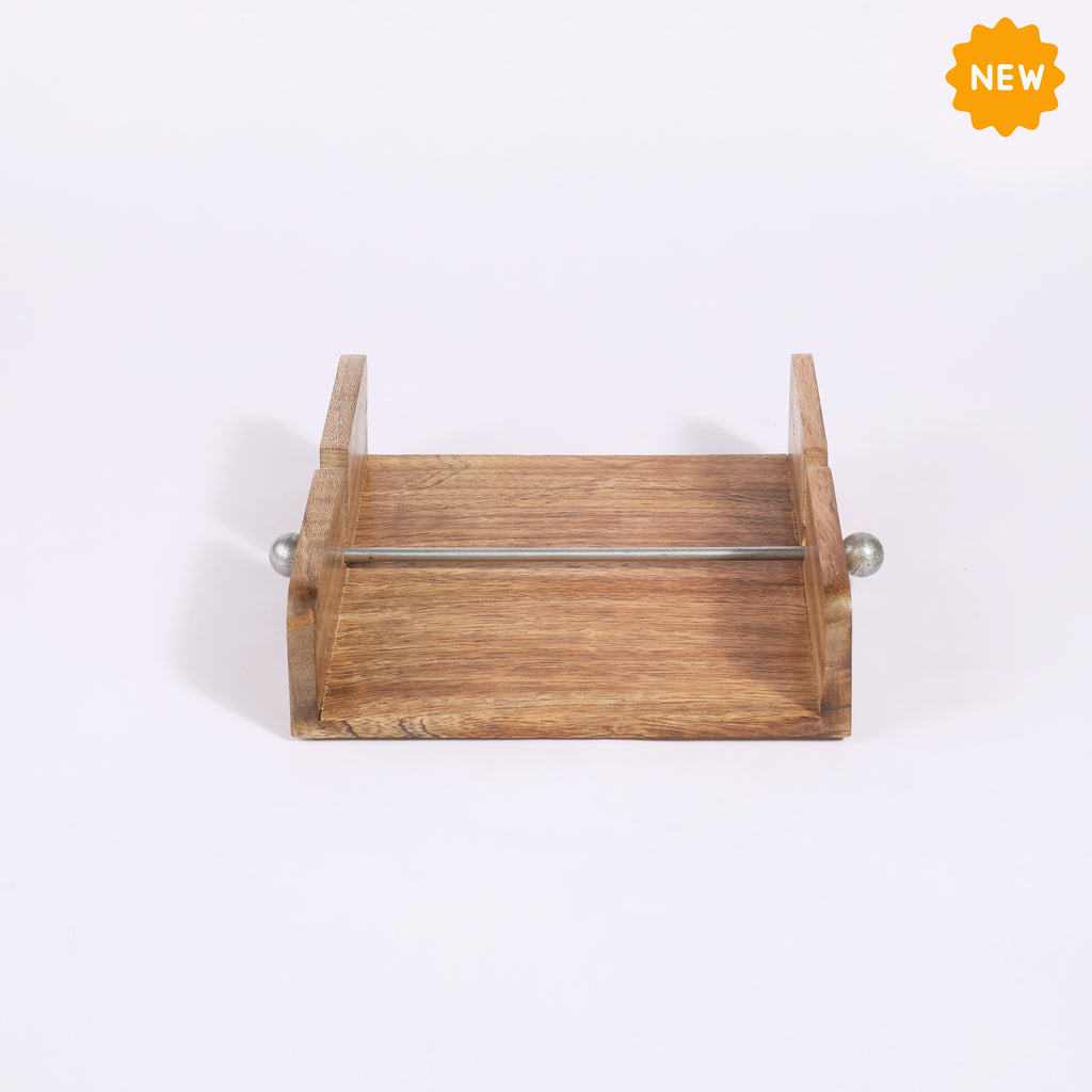 Rusticity® Wood Paper Napkin Holder for Napkin and Tissues|Mango Wood| Handmade | (7x7x2 in)