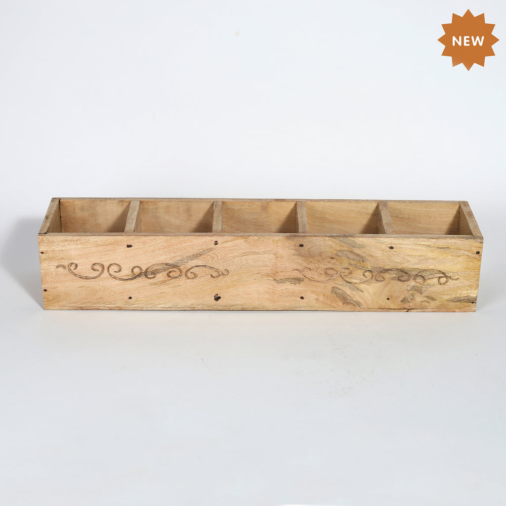 Rusticity® Wooden Wine Rack, Wine Holder | Mango Wood| Handmade |(19.5x4x3.6 in)