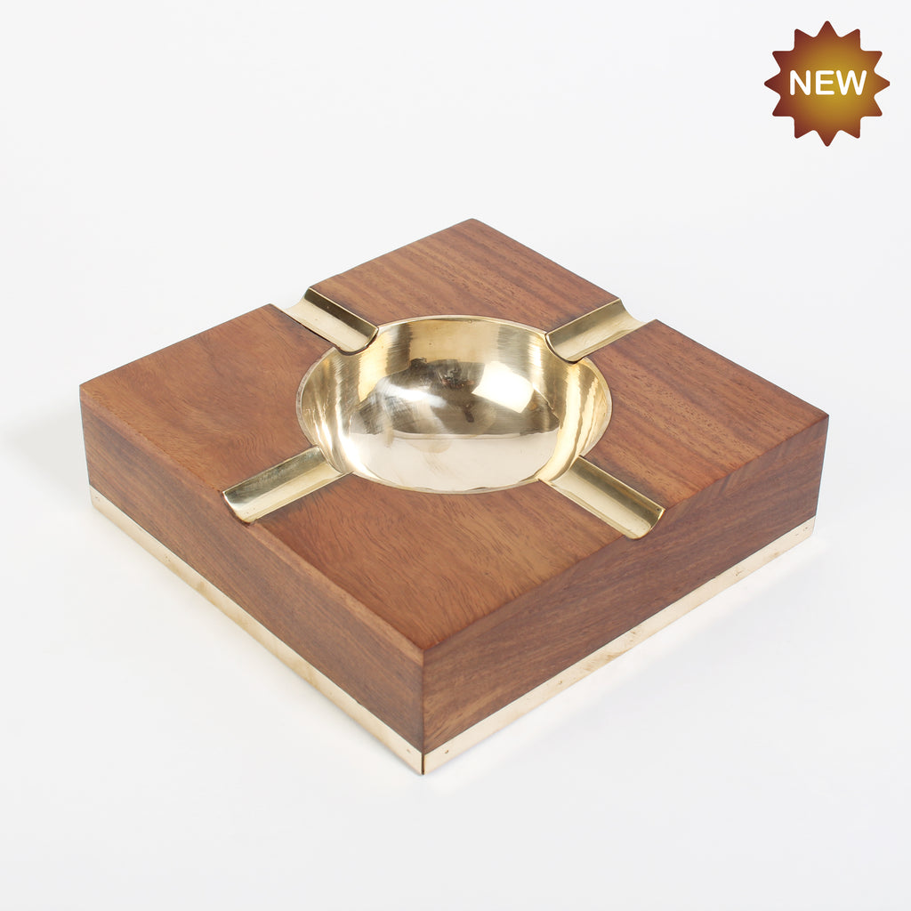 Rusticity® Wooden Ashtray | Sheesham Wood| Handmade |(7x7x2 in)