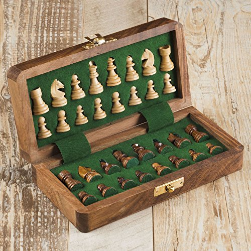 Rusticity Magnetic Chess Set with Foam (12x12 in)