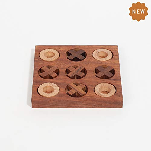 Rusticity Indian Wooden Tic Tac Toe Game Board | Handmade | (6x6 inches)…