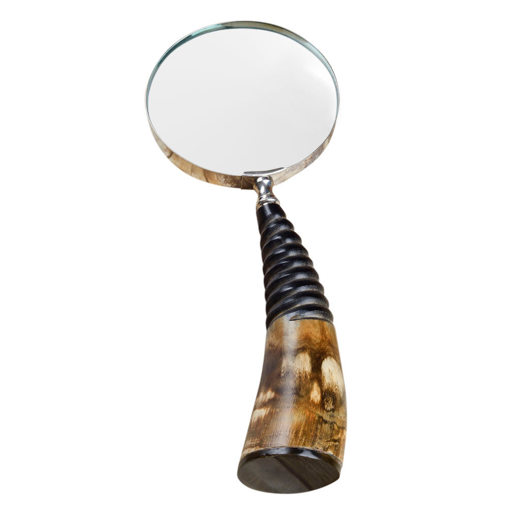 Rusticity Vintage Magnifying Glass with Holder - Tusk Design | Handmade |