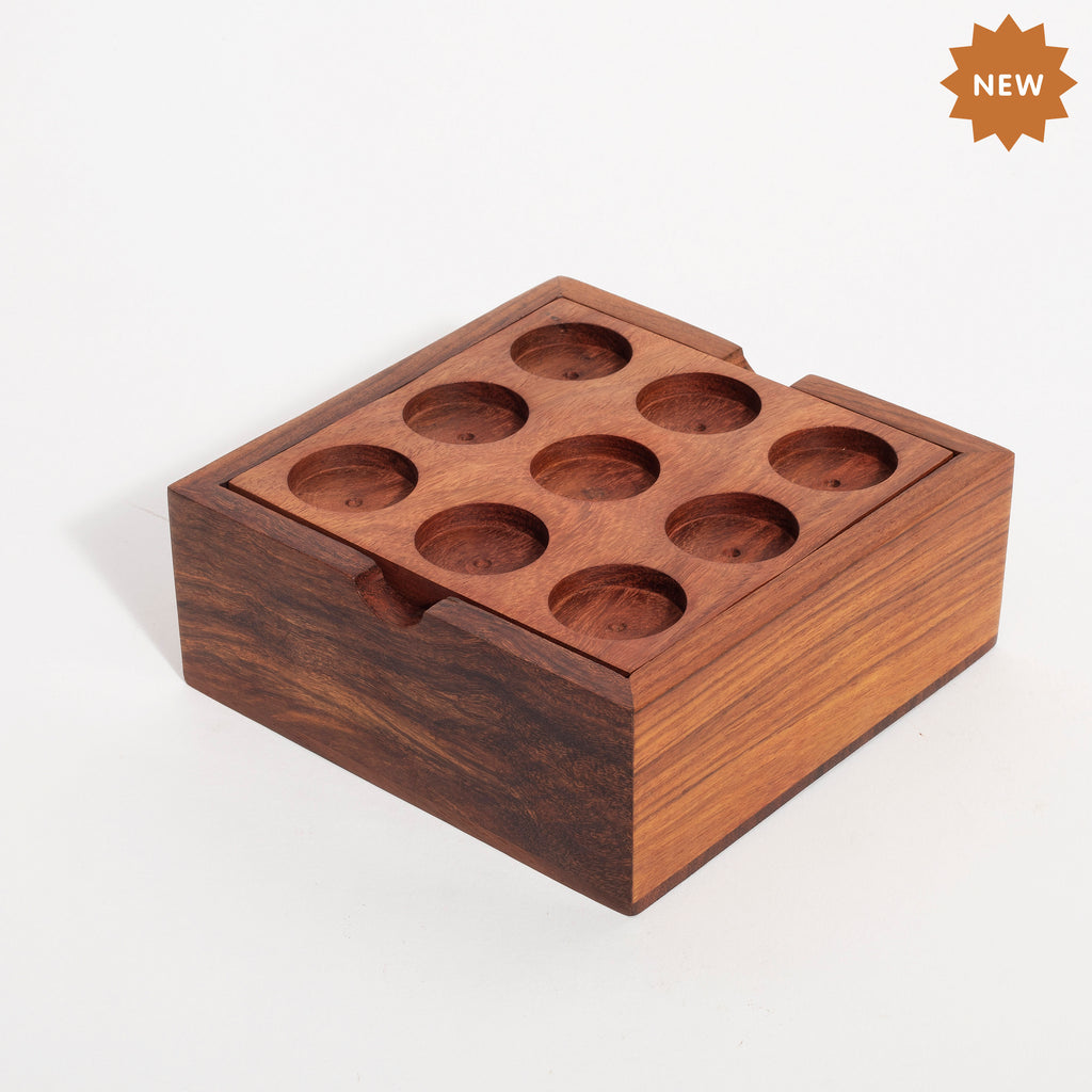 Rusticity Wood Tic Tac Toe & Marble Game- Set of 2 Games | Handmade |(5x5 in)