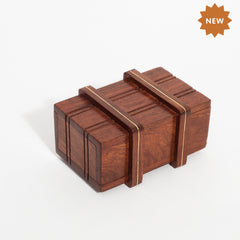 Rusticity Wooden Magic/Mystery Box with Brass Inlay- Small| Handmade|(4x2.5 in)