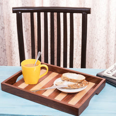 Rusticity Wood Serving Trays Platters Set of 2 | Handmade | (14x10 in)