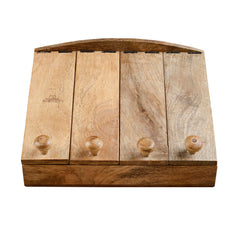 Rusticity Wooden Tea Bag Box//Spice Organizer with Segmented Lids - 8 Slots | Handmade | (12x10 in)