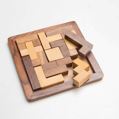 Rusticity Wood Tangram Puzzle Game 13 piece | Handmade | (6.5x6.5 in)