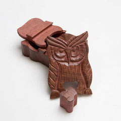 Rusticity Wooden Mystery Puzzle Box - Owl | Handmade |