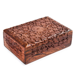 Rusticity Wood Jewelry Box Decorative | Handmade | (7x5 in)
