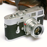 Leica M2 ser no 10068xx inc F2.8 50mm coll Elmar and erc
