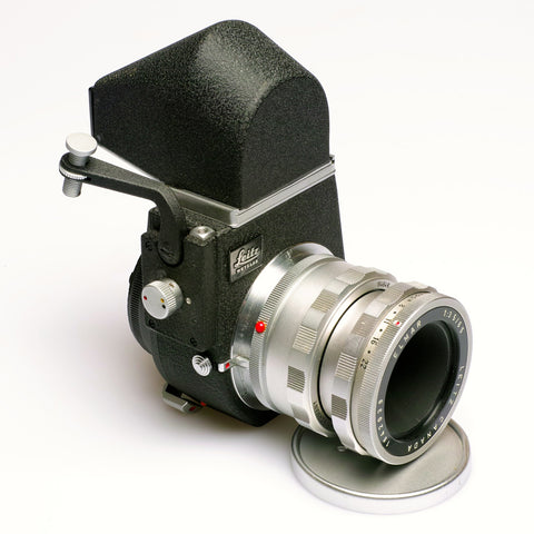 Leitz Visoflex 111  inc  finder  with  Elmar   65mm  F3.5   Viso  lens