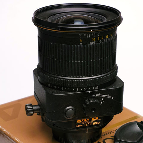 Nikon 24mm F3.5 PC-E shift lens