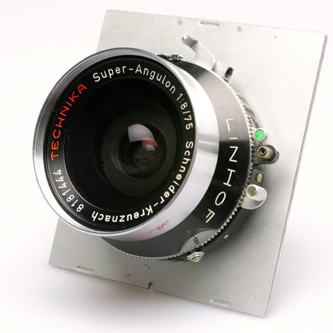 Schneider Super Angulon Linhof selected F8 75mm lens