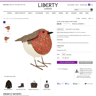 Liberty of London Robin christmas