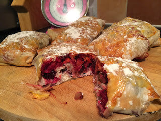 cranberry and turkey filo wrap