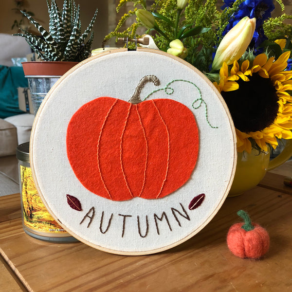 Autumn Time Embroidery Hoop Art Embroidery Hoop Art - classicbecca
