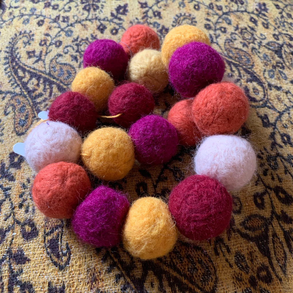 Hand Felted Ball Garlands