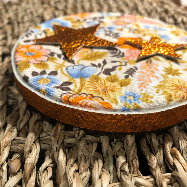 Floral Fabric & Star Decoration Decoration - classicbecca
