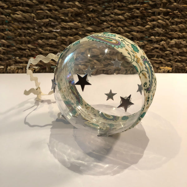 Paisley & Stars Clear Bauble Christmas Decoration Christmas Tree Decoration - classicbecca