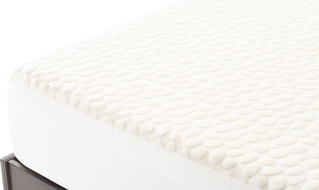 Corner shot of Nolah organic cotton mattress protector
