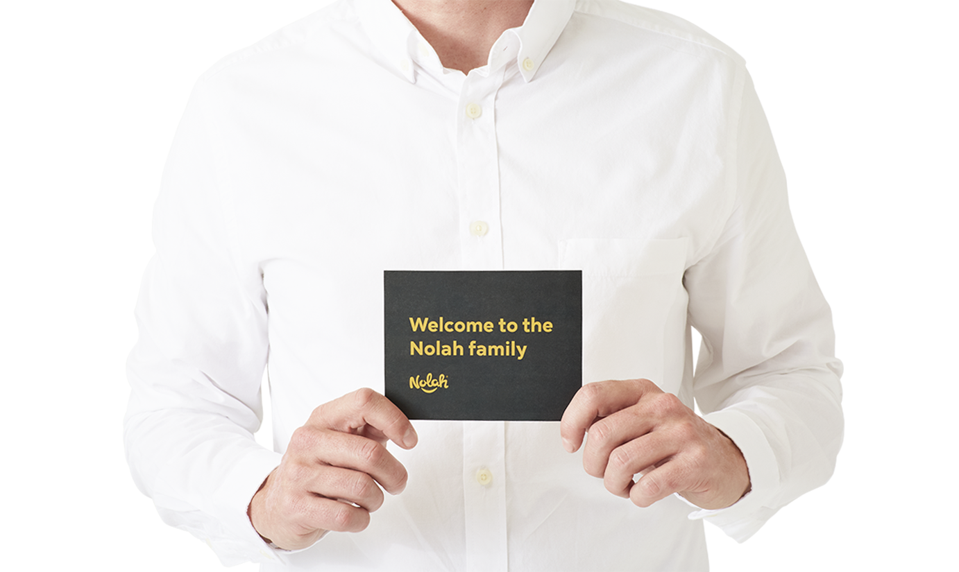 Nolah welcome to the family - organic mattress protector