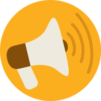 a graphic of a megaphone inviting everyone to share a promote the Nolah Mattress.