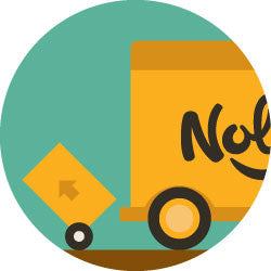 graphic of a delivery truck deliveringa Nolah mattress.