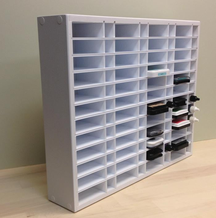 "Side view picture of the full 48 Ink / ReInk (up to 3.25"" wide pads) organizer."
