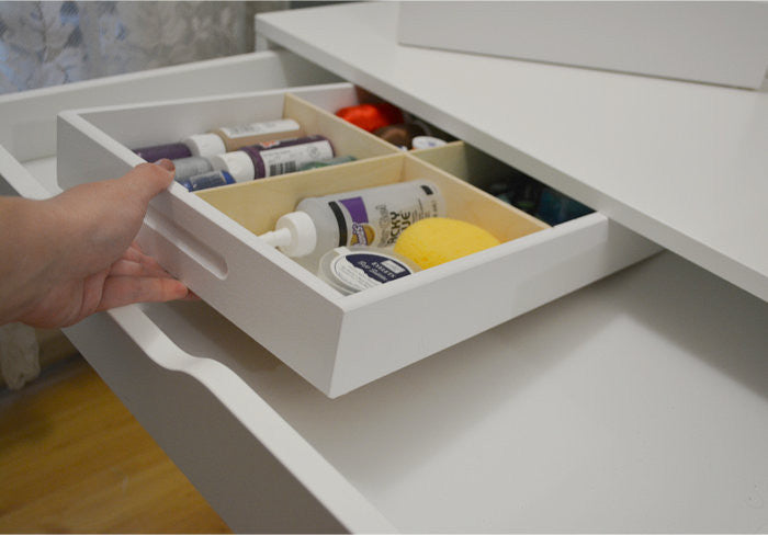 4 Cubby Drawer Caddy