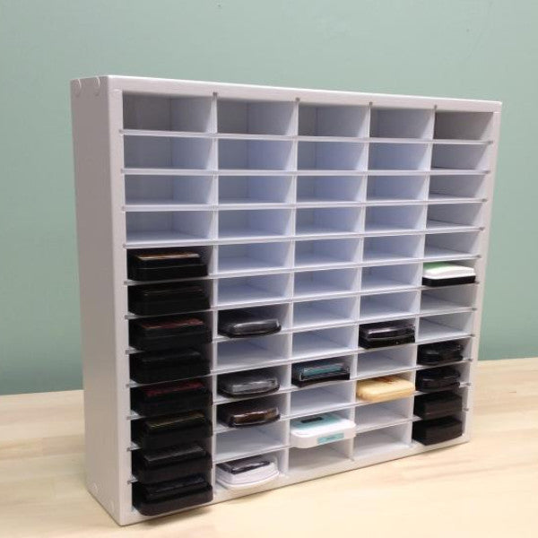 "Main photo of the 60 Ink Organizer (up to 3.25"" wide pads). Shows the entire craft organizer."
