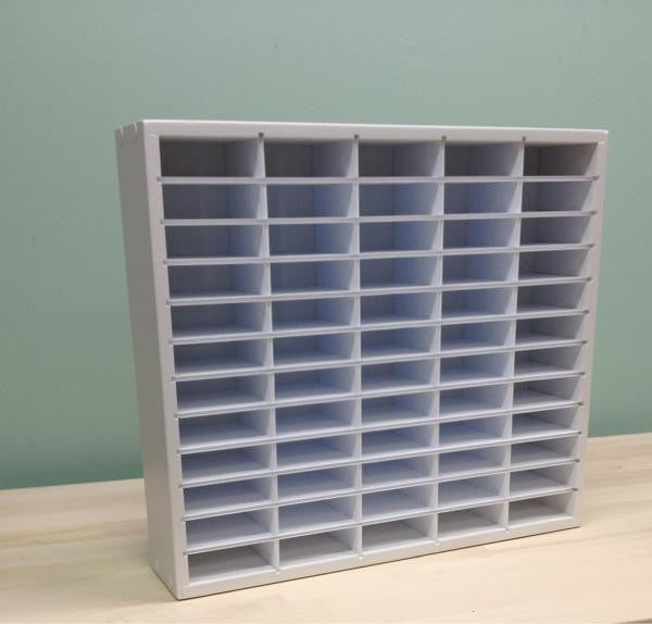 "The full 60 Ink Organizer (up to 3.25"" wide pads) picture with empty cubbies."