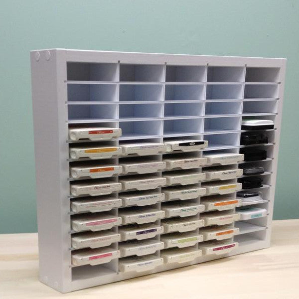 Main front view photo of the 60 Ink Pad Organizer for mainly Stampin' Up ink pads.