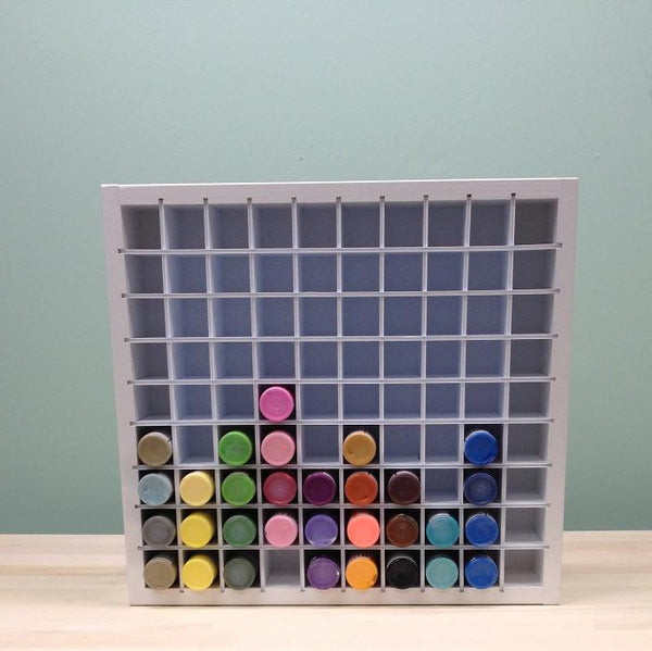 A front view of the entire Acrylic Paint craft organizer.