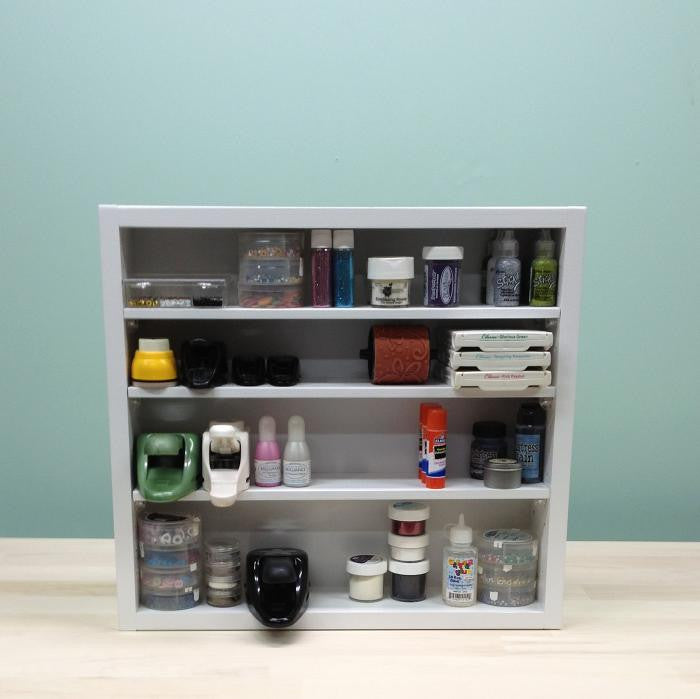 A front view of the Adjustable Shelf Organizer.
