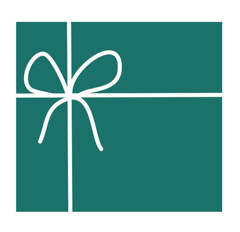 OrganizeMore Gift Card present picture in teal blue.