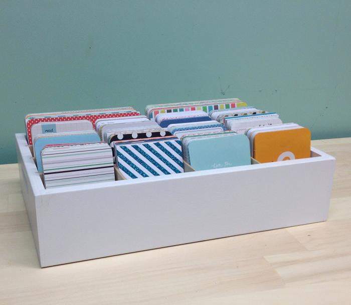 Journaling Card Caddy main photo with cards displayed.