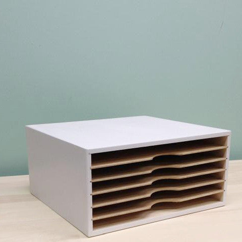 Stackable Paper main view photo. This photo shows the size and the slots for the 12x12 paper to fit in.