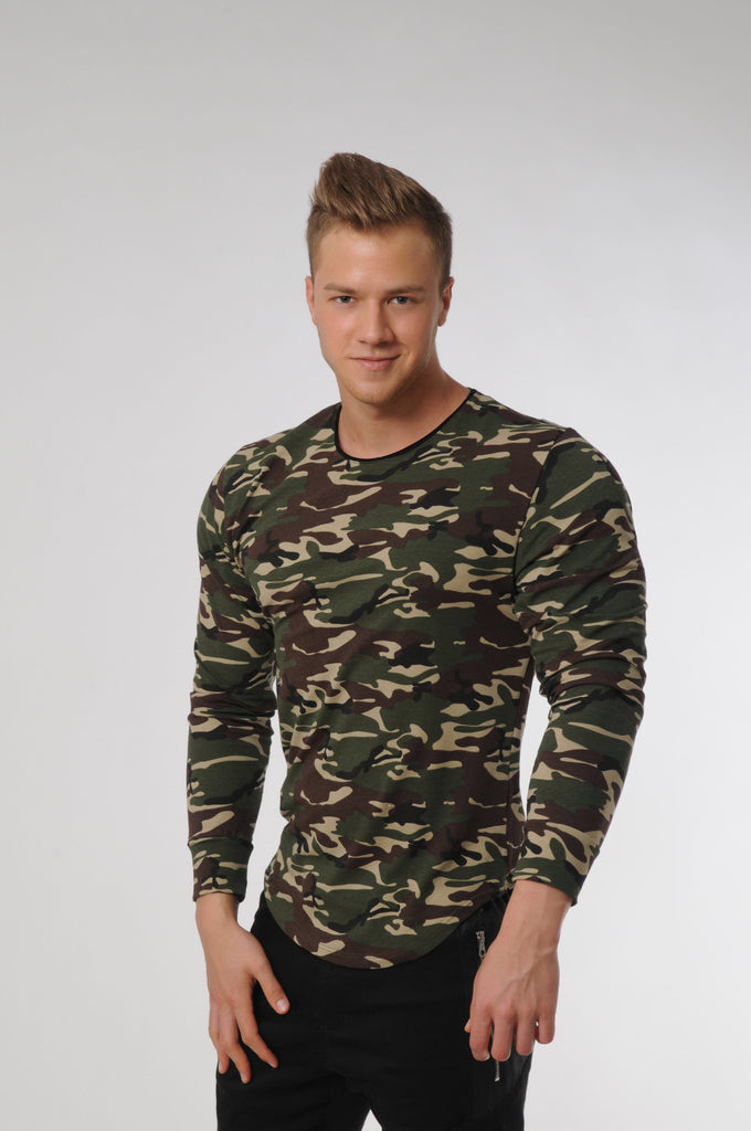 Attila's Camo Green Long Sleeve T