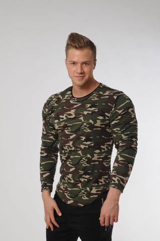 Attila's Camo Green Long Sleeve T-Shirt