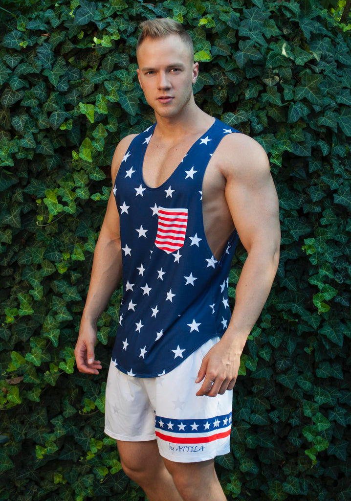 Attila's USA Star Loose Fit Tank