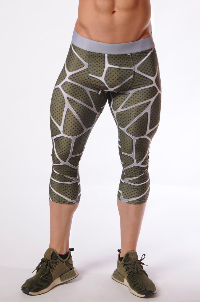 Attila's 3/4 Compression Tights - Khaki