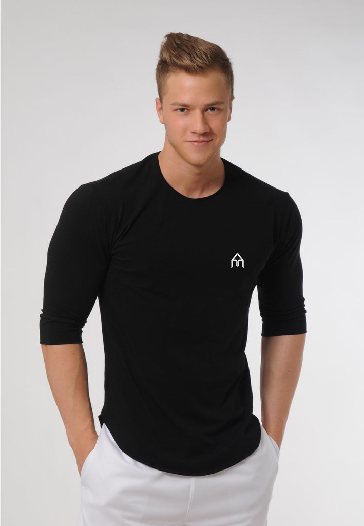 Attila's ¾ Sleeve Lifestyle Shirt - Black