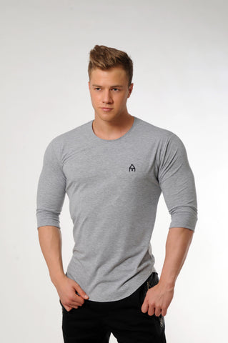 Attila's ¾ Sleeve Lifestyle Shirt - Light Grey