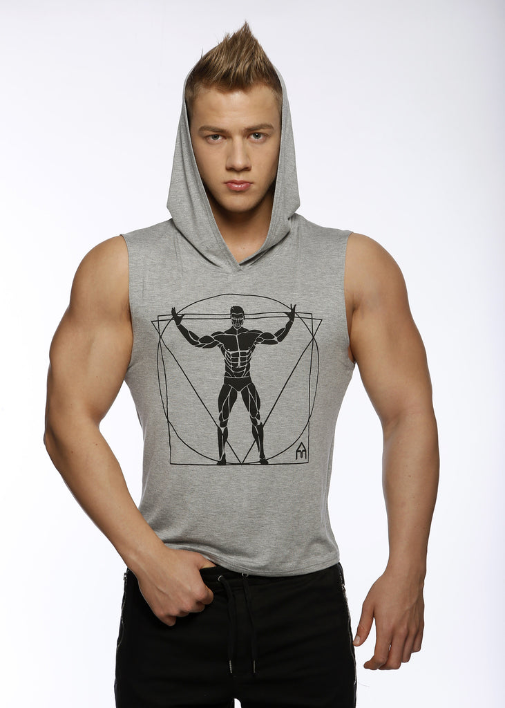 Attila's Light Grey Sleeveless Hoodie
