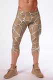 Attila's 3/4 Compression Tights - Beige
