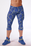 Attila's 3/4 Compression Tights - Blue Razz