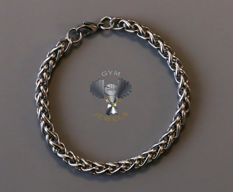 Braided Silver Steel Bracelet