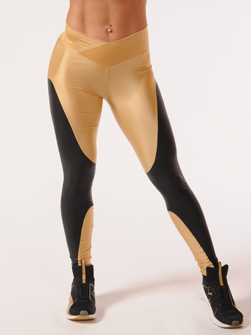 Dual Deluxe Gold Leggings