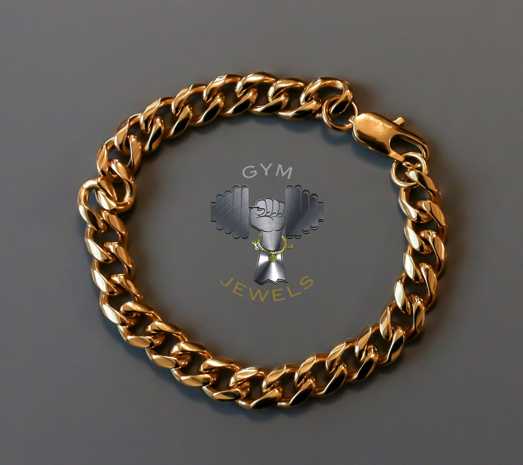 Solid Gold Steel Bracelet