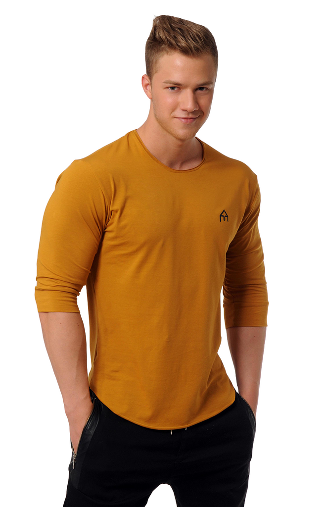 Attila's ¾ Sleeve Lifestyle Shirt - Goldenrod